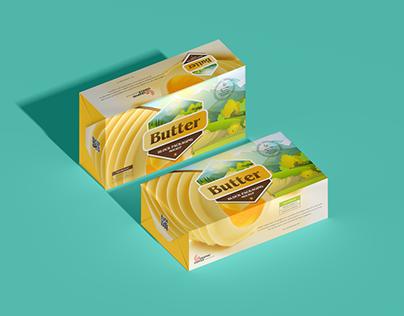 Free Brand Butter Block Packaging Mockup