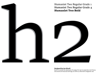Humanist Two Typeface