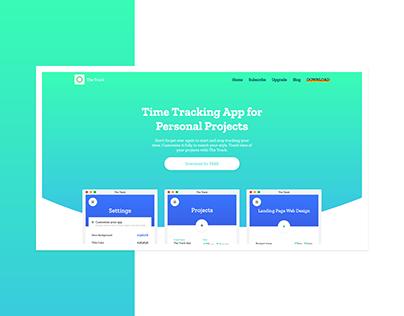 The Track App Web Design
