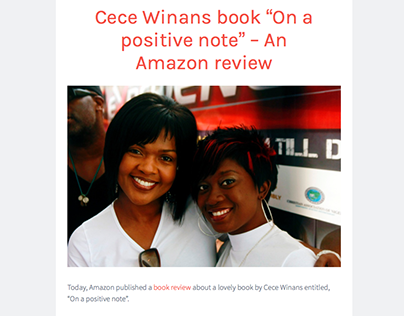 """Cece Winans book """"On a positive note"""" - Amazon review"""