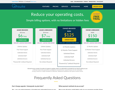 Billing Software Pricing Page