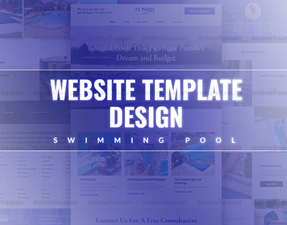 Swimming Pool Builder and Services Website Template