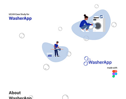 Mobile App for a Laundry Service provider, WasherApp.