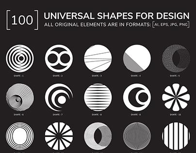 100 geometric shapes. Part 2
