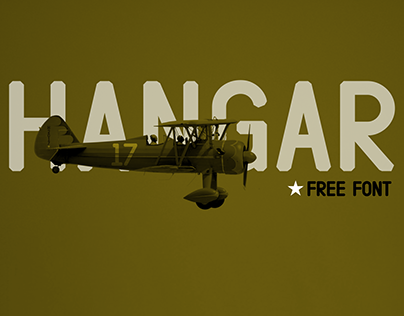 HANGAR | Free Font