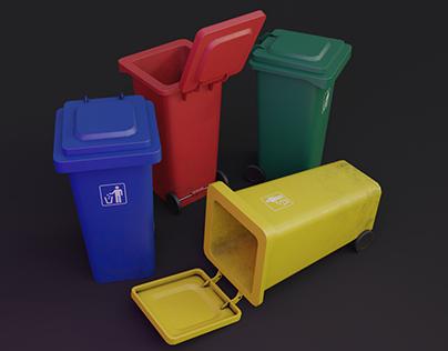 Plastic Trash Bins Showcase