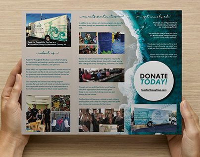 Trifold brochure for non-profit organization