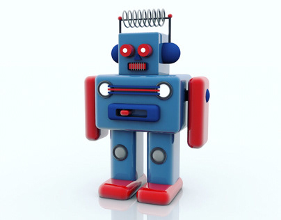 ROBOT TOY Made with Cinema 4D