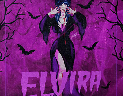 Elvira Digital Illustration