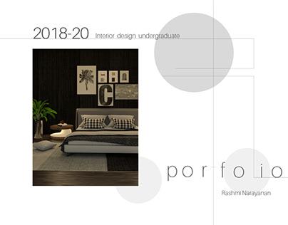 Interior Design Undergraduate Portfolio 2018-20