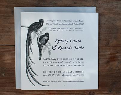 Print Design // Bilingual Wedding Invitations
