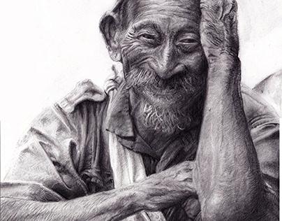 Nepal - Vecchietto che ride
