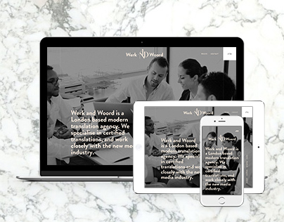 Werk and Woord Responsive Website