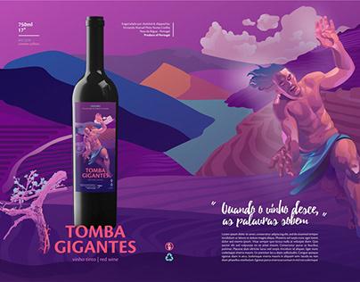 """Rótulo para vinho """"Tomba Gigantes"""""""