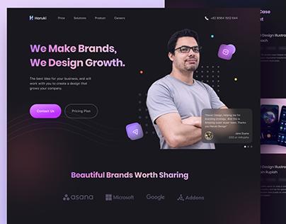 Haruki Creative Agency - Landing Page
