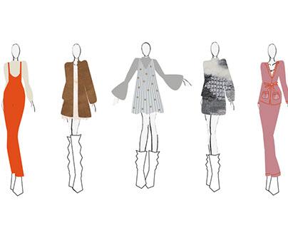 Design Concepts Project #1 Fashion Croquis