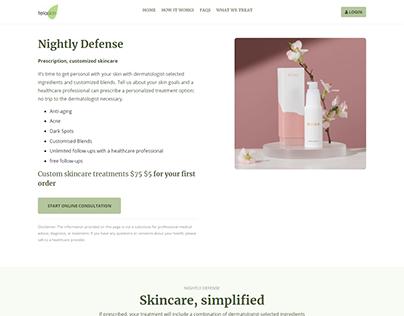 Skin Care Website Design | Bootstrap | Angular