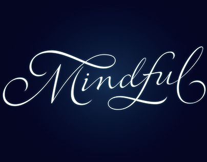 Mindful Script Lettering Process