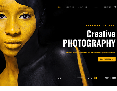 Photography Bootstrap 4 HTML Template