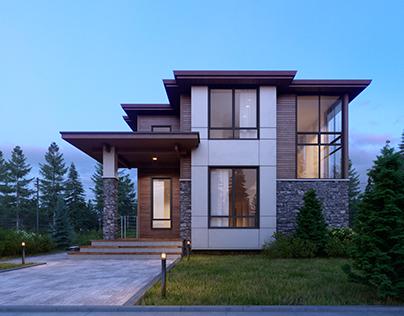 SNC house in Seattle, USA. CGI
