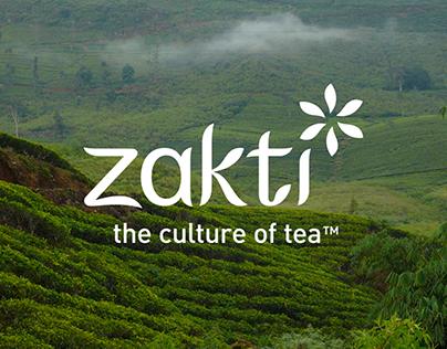 Zakti logo, packaging & website