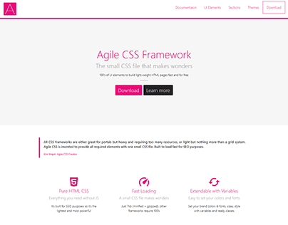 Agile CSS Framework & UI Kit | Free and Open Source