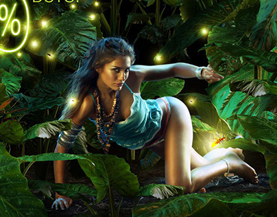 """LIGHT OF THE JUNGLE"" Sale-Fashion Campaing"
