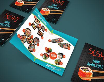 BlueFin Sushi - Print Design