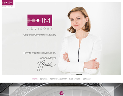 JM Advisory - website design