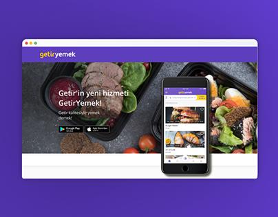 GetirYemek Website