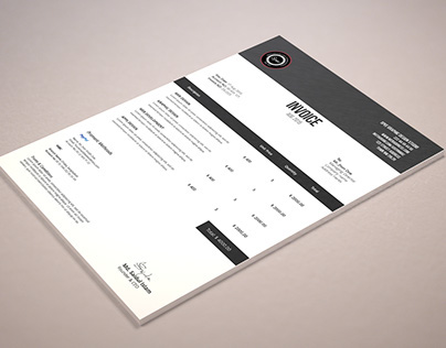Minimalist Invoice Template Design