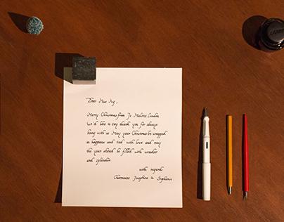 Calligraphy」「 Jo Malone London Christmas Card