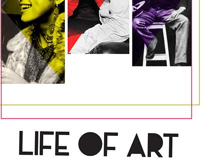 Life Of Art Magazine Layout
