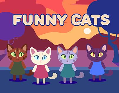 Funny cats animation