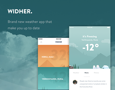 Widher - weather app concept