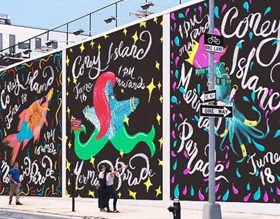 Coney Island Mermaid Parade Posters