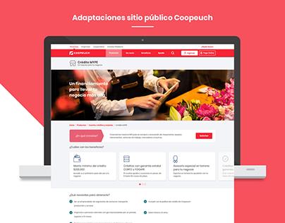 [Coopeuch] Adaptaciones sitio público