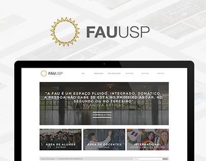 Proposta de redesign - Site da FAU