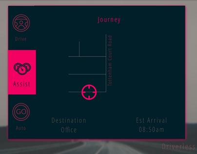 UI Challenge 034 Car Interface Driverless
