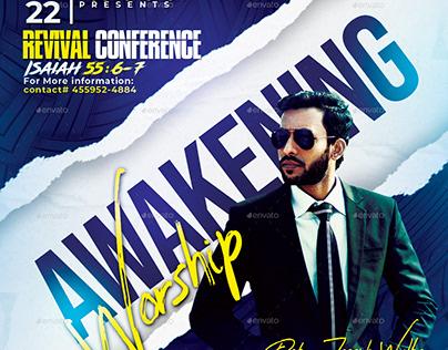 Awakening Worship Church Flyer/Poster