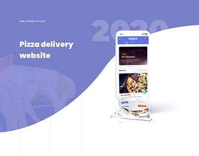 Pizza delivery mobile web site design