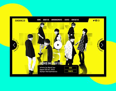Sunshine - A Concert Management Company Website Mock Up