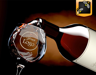 Wine Bottle After Effects Template