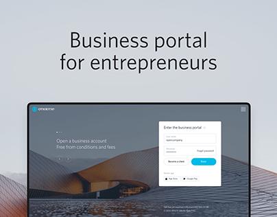 Otkritie Business portal