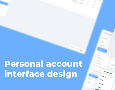 Personal account interface design   market