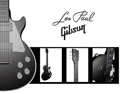 Modelado de guitarra Les Paul, Gibson.