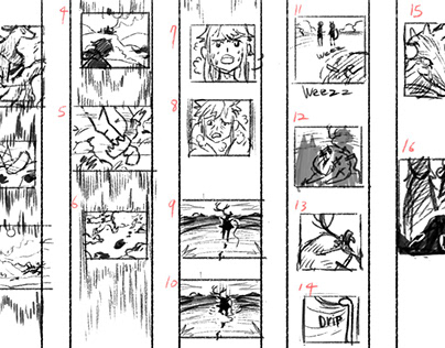 Story board/rough panels
