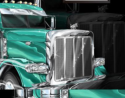 Truck Illustration for T-shirt