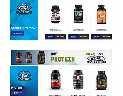 Food Supplementary Online Store - ECommerce website
