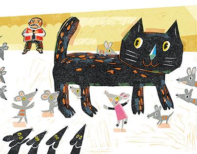 童书插图-《铁猫咔咔咔》
